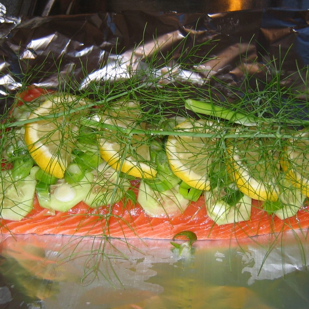 Trout with Fennel and Lemon